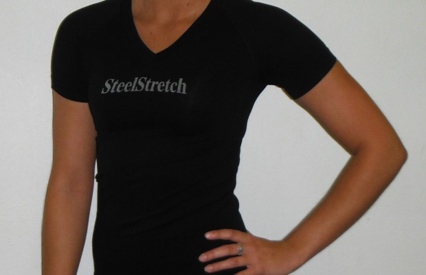 Seamless Short Sleeve V-Neck